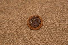 Tela marrom de serapilheira dos feijões de café natural Imagem de Stock Royalty Free