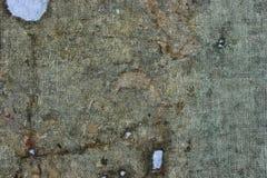 A tela muito velha é estragada no tempo Vista superior Close-up fotografia de stock