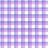 Tela no rosa e na tartã sem emenda do teste padrão da fibra lilás e azul EPS10 Imagens de Stock Royalty Free