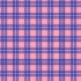 Tela no rosa e na tartã sem emenda do teste padrão da fibra lilás e azul EPS10 Imagem de Stock Royalty Free
