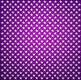 Tela púrpura con las estrellas blancas Fotografía de archivo libre de regalías