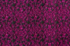 Tela púrpura de la raya Imagenes de archivo
