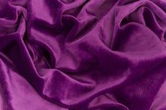 Tela púrpura del terciopelo Imágenes de archivo libres de regalías