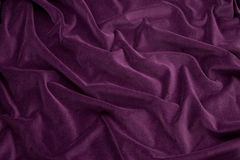 Tela púrpura del terciopelo Imagen de archivo libre de regalías