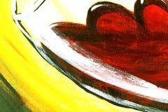 Tela pintada de la textura de la lona de arte como fondo fotografía de archivo libre de regalías