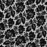 Tela preta do laço com flores Foto de Stock
