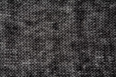Tela preta feita malha de angorá Fotos de Stock