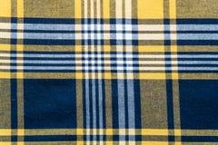 Tela quadriculado tradicional Fundo textured sumário Imagem de Stock Royalty Free