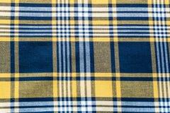 Tela quadriculado tradicional Fundo textured sumário Imagens de Stock