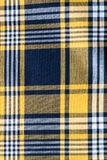 Tela quadriculado tradicional Fundo textured sumário Fotografia de Stock Royalty Free