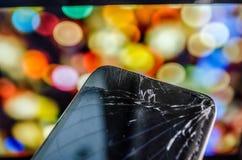 Tela quebrada Imagem de Stock
