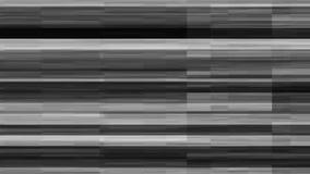 Tela quebrada da tevê com ruído preto e branco ilustração stock