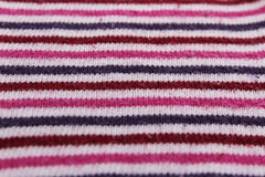Tela rayada multicolora de punto de la textura Foto de archivo libre de regalías