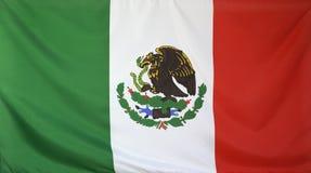 Tela real de la bandera de México Foto de archivo libre de regalías