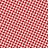 Tela roja de la comida campestre Foto de archivo libre de regalías