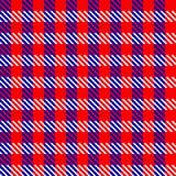 Tela roja de la verificación Ilustración del Vector