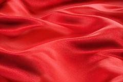 Tela roja del satén Imagen de archivo