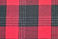 Tela roja del tartán Foto de archivo libre de regalías