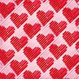 Tela rosada con los pequeños corazones Imagen de archivo libre de regalías
