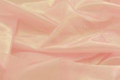 Tela rosada del shiney Imágenes de archivo libres de regalías