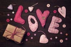 A tela rotula o amor Foto de Stock