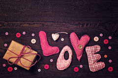 A tela rotula o amor Imagem de Stock