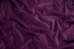 Tela roxa de veludo Imagem de Stock Royalty Free