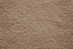 Tela suave del fieltro de la textura del color marrón Imagen de archivo