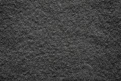 Tela suave del fieltro de la textura del color negro Imagen de archivo libre de regalías