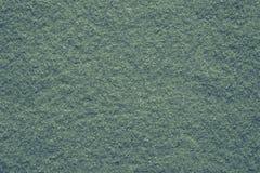 Tela suave del fieltro de la textura del color verde Imágenes de archivo libres de regalías
