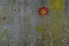 Tela sujada com teste padrão de flor Imagem de Stock