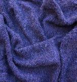 Tela texturizada púrpura Fotografía de archivo