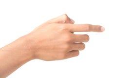 Tela tocante da mão Imagem de Stock Royalty Free