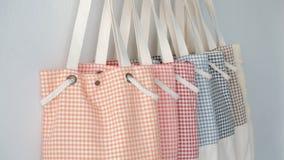 Tela Tote Bags da forma Foto de Stock Royalty Free
