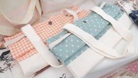 Tela Tote Bags da forma Fotografia de Stock