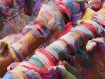 Tela usada no costume do budismo Fotografia de Stock Royalty Free