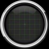 Tela vazia do osciloscópio com grade na cor verde Imagens de Stock Royalty Free