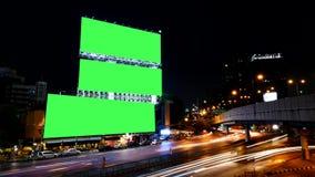 Tela vazia do verde do quadro de avisos de propaganda, para a propaganda, lapso de tempo video estoque