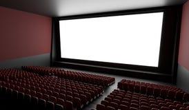 Tela vazia no salão vazio do cinema 3D rendeu a ilustração Imagem de Stock