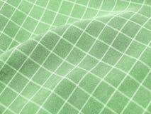Tela verde checkered plissada Imagens de Stock