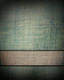 Tela verde envelhecida com a barra como o fundo do vintage ilustração stock