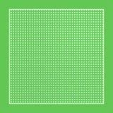 Tela verde quadriculado com círculos brancos e um quadro ilustração do vetor
