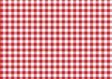 Tela vermelha & branca Fotos de Stock