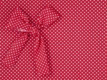 Tela vermelha de tricot Imagem de Stock