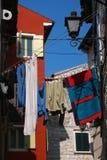 Tela in vie di Rovinj Fotografie Stock