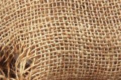 Tela vieja del saco de la textura Fotografía de archivo libre de regalías