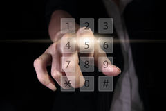 Tela virtual do número Imagens de Stock