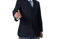 Tela virtual tocante da mão do homem Imagem de Stock Royalty Free