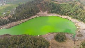 Telaga高原dieng的warna湖 库存照片