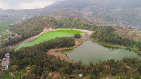 Telaga高原dieng的warna湖 图库摄影